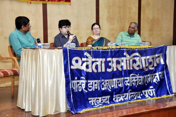 vipoc_Famous Actor Nipun Dharmadhikari at Shweta Meeting